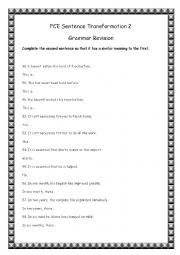 Sentence Transformation 2
