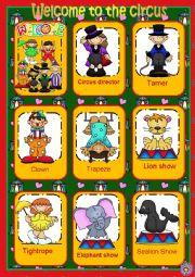 English Worksheet: Circus flashcards