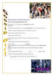 English Worksheet: Gossip Girl first season promo