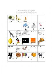 English Worksheet: ABC cognate