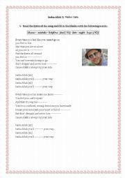 English worksheet: a song by Maher Zain