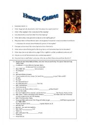 The Hunger Games Worksheet