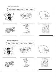 English Worksheet: animals actions