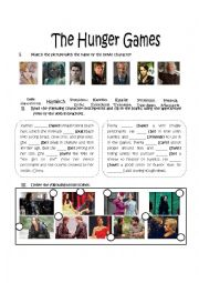 English Worksheet: The Hunger Games, Movie activity