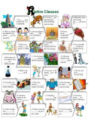 English Worksheet: Relative Clause