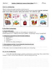 English Worksheet:  Module I/Lesson4:Pocket Money (part two)