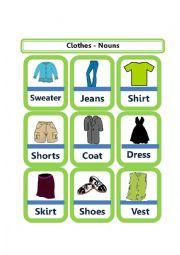 English Worksheet: Describing Clothes - Nouns (Part 2)
