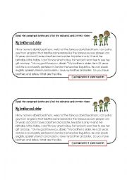 English Worksheet: Finding errors_Capitalization & Punctuation