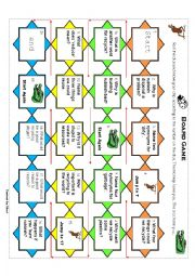 English Worksheet: recycle board game