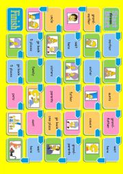 English Worksheet: simpsons family boardgame (2pages)