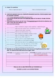 English Exercises: PHRASES AND CLAUSES