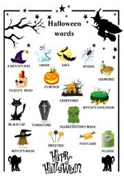 English Worksheet: happy halloween
