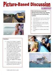 English Worksheet: Picture-based discussion Elementary - (16) - Travelling