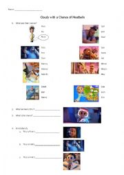 English Worksheet: Cloudy with a Chance of Meatballs_low