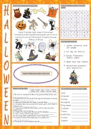 Halloween Vocabulary Exercises