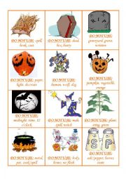 English Worksheet: TABOO GAME HALLOWEEN