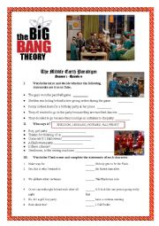 English Worksheet: Big Bang Theory - The Middle Earth Paradigm