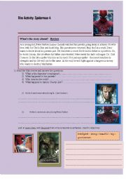 English Worksheet: Spiderman 4