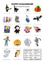 halloween word match