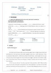 English test 11th form