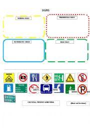English Worksheet: signs