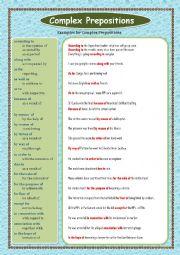 Complex Prepositions   Part - 01