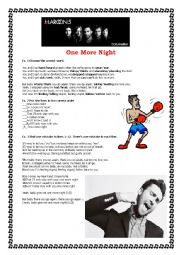 English Worksheet: One More Night by Maroon 5