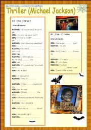 English Worksheet: Thriller, Michael Jackson