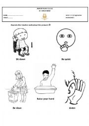 classroom rules coloring pages - photo#24