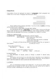English Worksheet: compositions: rules of thumb
