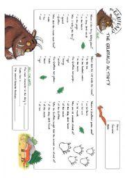 English Worksheet: The Gruffalo worksheet