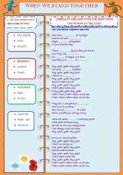 English Worksheet: WHEN WE STAND TOGETHER - SONG BY NICKELBACK