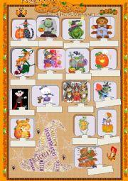 English Worksheet: Halloween 2012 - Matching exercise
