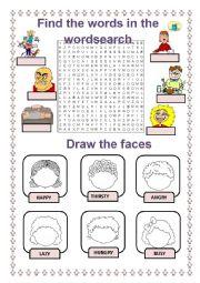 English worksheet: feelings