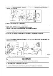 English Worksheet: DESCRIBING PLACES IN THE HOUSE QUIZ