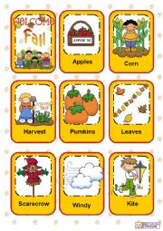 English Worksheet: Seasons Flashcards - Part 1 - Fall / Autumn
