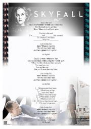 English Worksheet: Adele - Skyfall