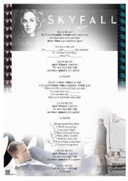 English Worksheet: Adele - Skyfall