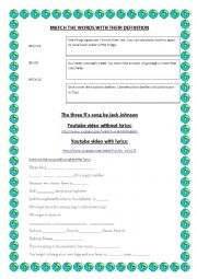 English Worksheet: Go green and save the planet second part