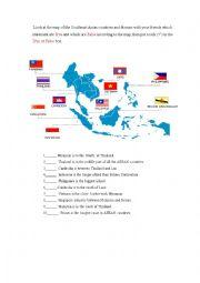 English Worksheet: asean country