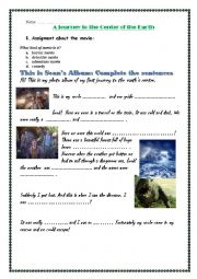 English Worksheet: A Journey to the Center of the Earth