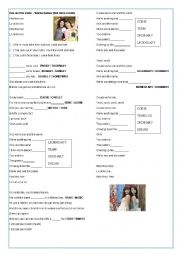English Worksheet: One and the same - Demi Lovato and Selena Gomez