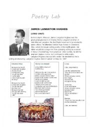 English worksheets: Poetry Lab: James Langston Hughes