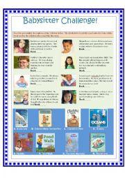English Worksheet: Babysitter Challenge