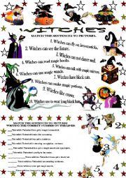 English Worksheet: WITCHES