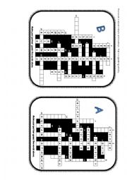 English Worksheet: PAIRWORK - Indians and Cowboys. Crossword.