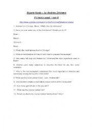 English Worksheet: Bizarre Food - Chicago