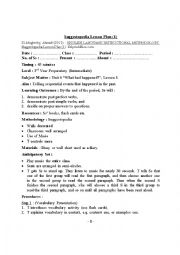 English Worksheet: Lesson Plan Based on Suggestopedia