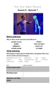 English Worksheet: Halloween_The Big Bang Theory
