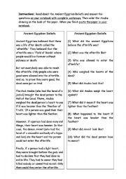 English Worksheet: Egypt - Mummies